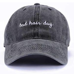 NWT BLACK BAD HAIR DAY HAT